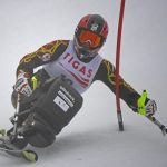 Roll Rinn. Slalom.  Eline Alaert (BEL). 05.01.2013. Foto Robert Parigger.